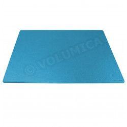 Petit Sous-main rigide cuir Bleu-turquoise Beaubourg