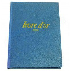 Livre d'Or A5 cuir Bleu-turquoise Beaubourg