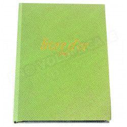 Livre d'Or A5 cuir Vert-anis Beaubourg