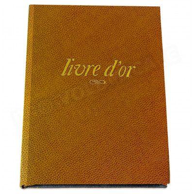 Livre d'Or A4 cuir Gold Beaubourg