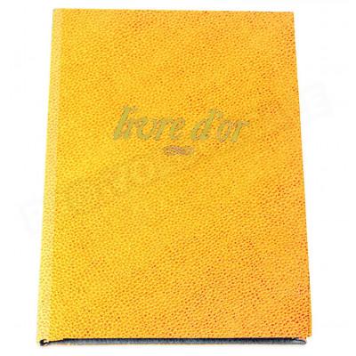 Livre d'Or A4 cuir Orange Beaubourg