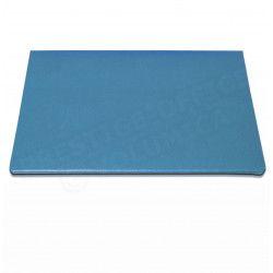 Sous-main à rabat cuir Bleu-turquoise Beaubourg