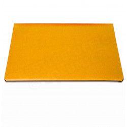 Sous-main à rabat cuir Orange Beaubourg