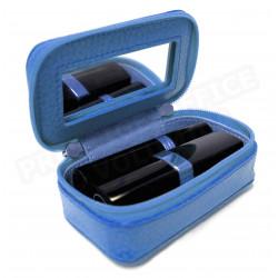 Mignonette à bijoux cuir Bleu-turquoise Beaubourg