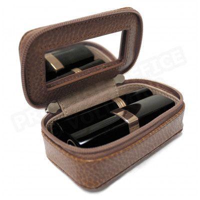 Mignonette à bijoux cuir Marron Beaubourg