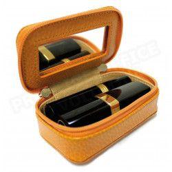 Mignonette à bijoux cuir Orange Beaubourg