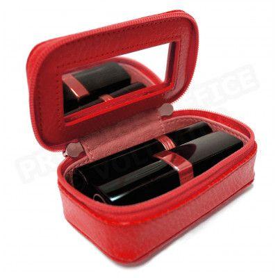 Mignonette à bijoux cuir Rouge Beaubourg