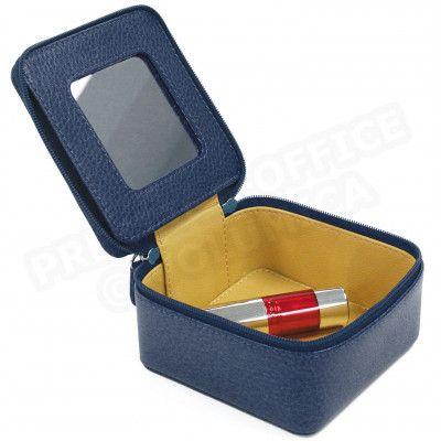 Boîte à bijoux cuir Bleu-marine Beaubourg