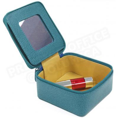 Boîte à bijoux cuir Bleu-turquoise Beaubourg