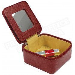 Boîte à bijoux cuir Rouge-bordeaux Beaubourg