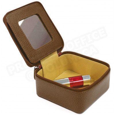 Boîte à bijoux cuir Marron Beaubourg