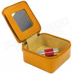 Boîte à bijoux cuir Orange Beaubourg
