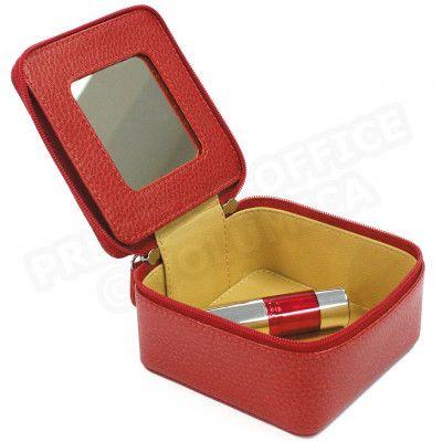 Boîte à bijoux cuir Rouge Beaubourg