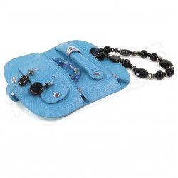 Porte-bijoux cuir Bleu-turquoise Beaubourg