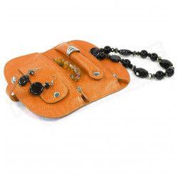Porte-bijoux cuir Orange Beaubourg