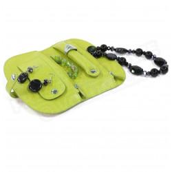 Porte-bijoux cuir Vert-anis Beaubourg