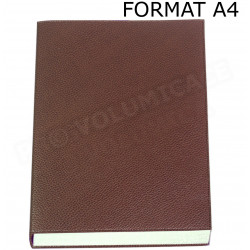 Carnet de notes A4 cuir Marron Beaubourg