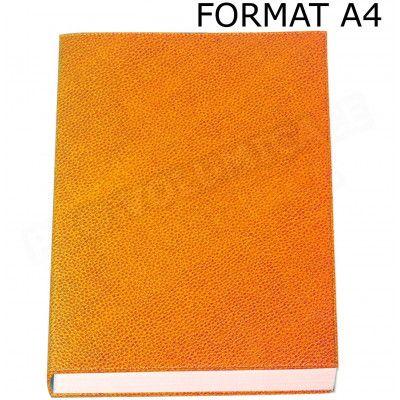 Carnet de notes A4 cuir Orange Beaubourg