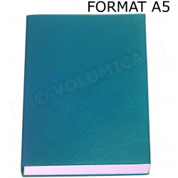 Carnet de notes A5 cuir Bleu-turquoise Beaubourg