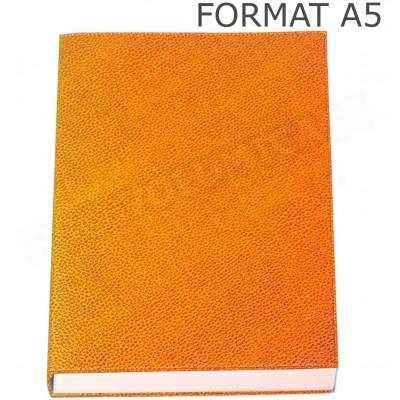 Carnet de notes A5 cuir Orange Beaubourg