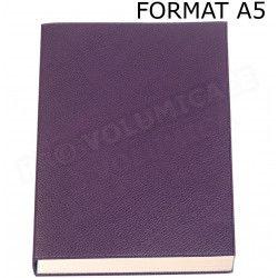 Carnet de notes A5 cuir Violet Beaubourg
