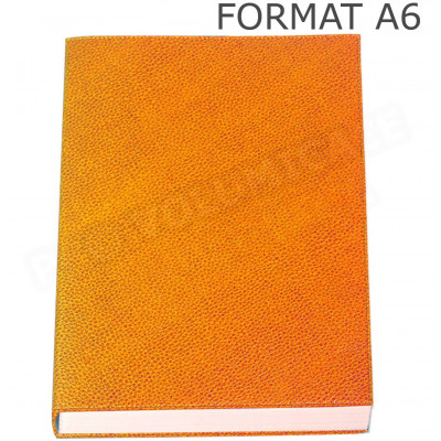 Petit Carnet de notes A6 cuir Orange Beaubourg