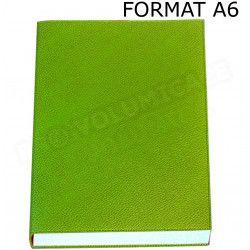 Petit Carnet de notes A6 cuir Vert-anis Beaubourg