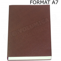Mini Carnet de notes A7 cuir Marron Beaubourg