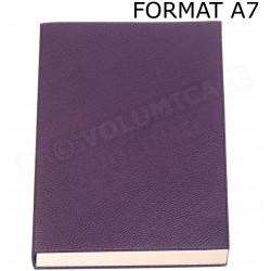Mini Carnet de notes A7 cuir Violet Beaubourg