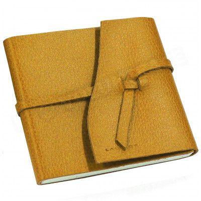Carnet de voyage 21x21 cuir Gold Beaubourg