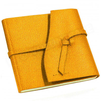 Carnet de voyage 10x10 cuir Orange Beaubourg