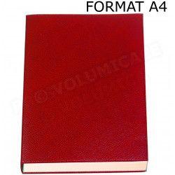 Carnet de note rechargeable A4 cuir Rouge Beaubourg