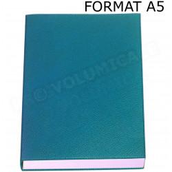 Carnet de note rechargeable A5 cuir Bleu-turquoise Beaubourg