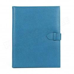 Conférencier portfolio A4 cuir Bleu-turquoise Beaubourg