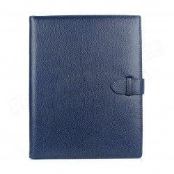 Conférencier portfolio A4 cuir Bleu-marine Beaubourg