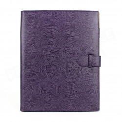 Conférencier portfolio A4 cuir Violet Beaubourg