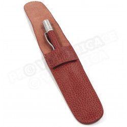 Etui à stylo cuir Rouge-bordeaux Beaubourg