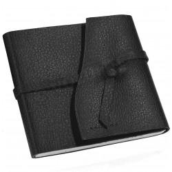 Carnet de voyage 21x21 cuir Noir Beaubourg