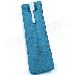 Etui à stylo business cuir Bleu-turquoise Beaubourg