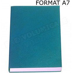 Mini Carnet de notes A7 cuir Bleu-turquoise Beaubourg