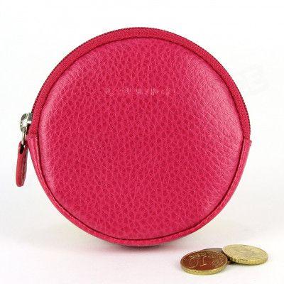 Porte-monnaie Rond cuir Rose-fuchsia Beaubourg