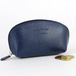 Porte-monnaie cuir Bleu-marine Beaubourg