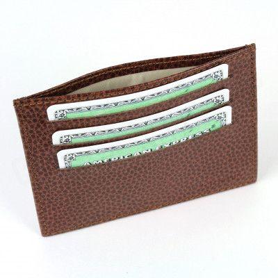 Porte Carte d'identité et Carte bancaire en cuir Marron Beaubourg
