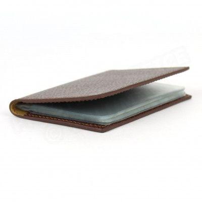 Porte 12 cartes cuir Marron Beaubourg
