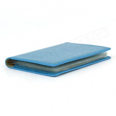 Porte 12 cartes cuir Bleu-turquoise Beaubourg