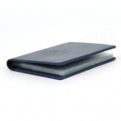 Porte 12 cartes cuir Bleu-marine Beaubourg