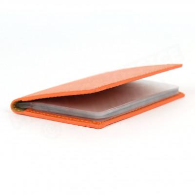 Porte 12 cartes cuir Orange Beaubourg