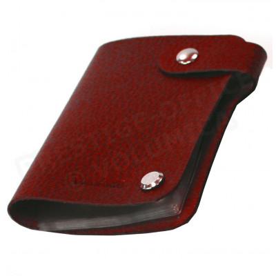 Porte cartes cuir Rouge-bordeaux Beaubourg