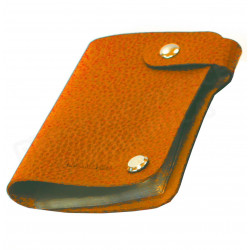 Porte cartes cuir Orange Beaubourg