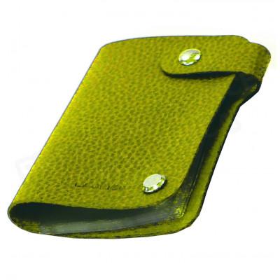 Porte cartes cuir Vert-anis Beaubourg
